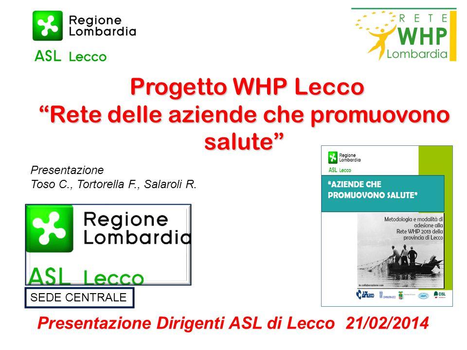 Progetto WHP Lecco Rete delle aziende che promuovono salute
