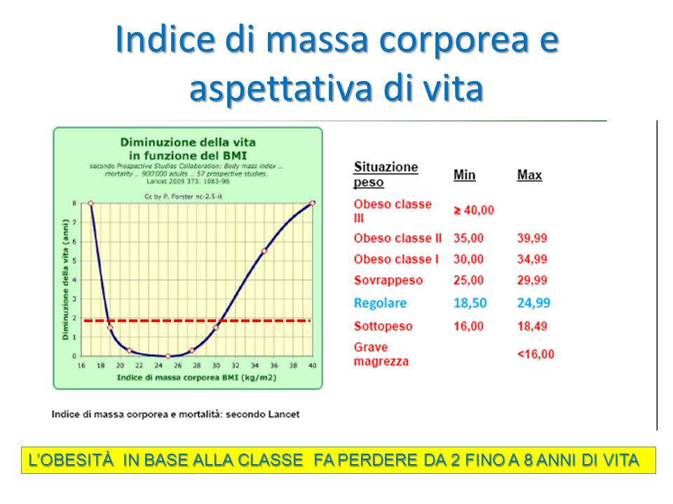 Indice di massa corporea e aspettativa di vita