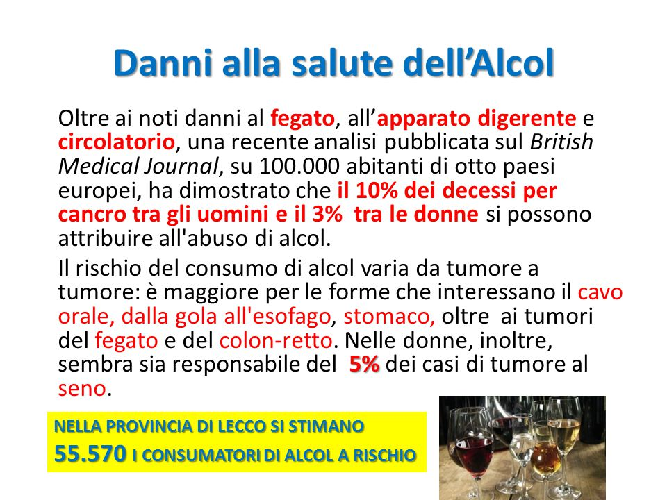Danni alla salute dell'Alcol