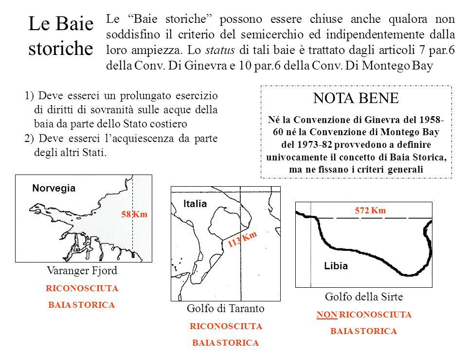 Le Baie storiche NOTA BENE