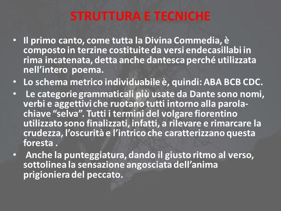 STRUTTURA E TECNICHE