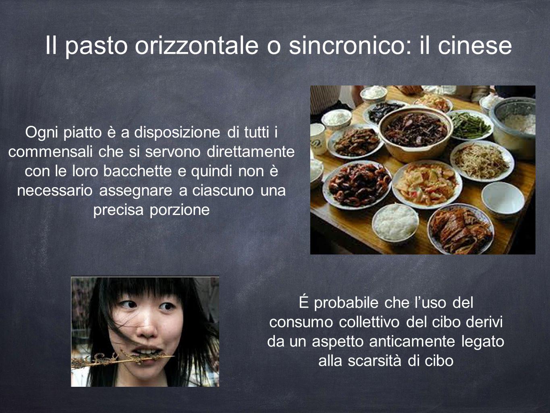 Il pasto orizzontale o sincronico: il cinese