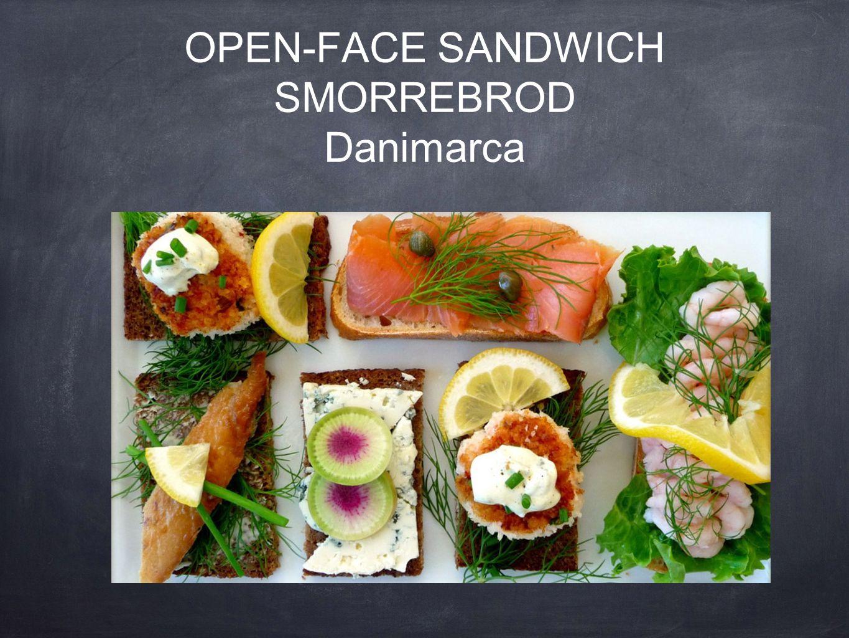 open-face sandwich Smorrebrod Danimarca