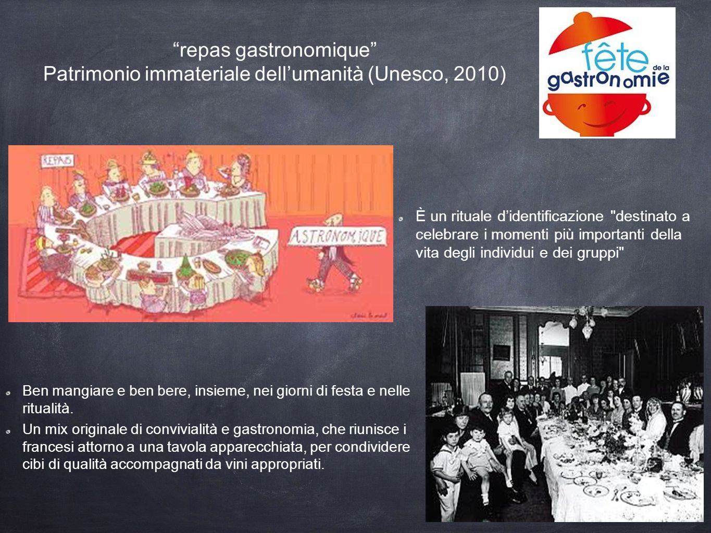 repas gastronomique Patrimonio immateriale dell'umanità (Unesco, 2010)