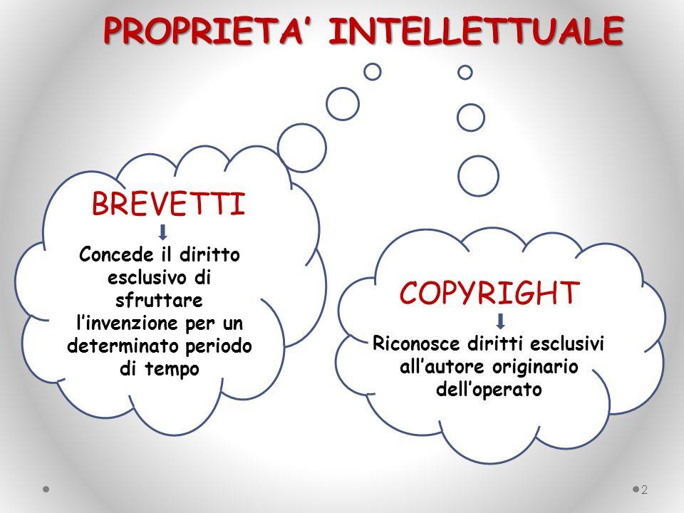 Riconosce diritti esclusivi all'autore originario dell'operato