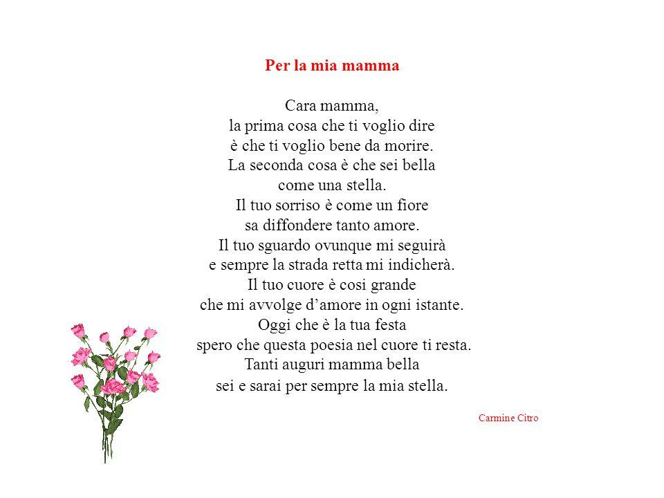 Carmine Citro Per la mia mamma Cara mamma,