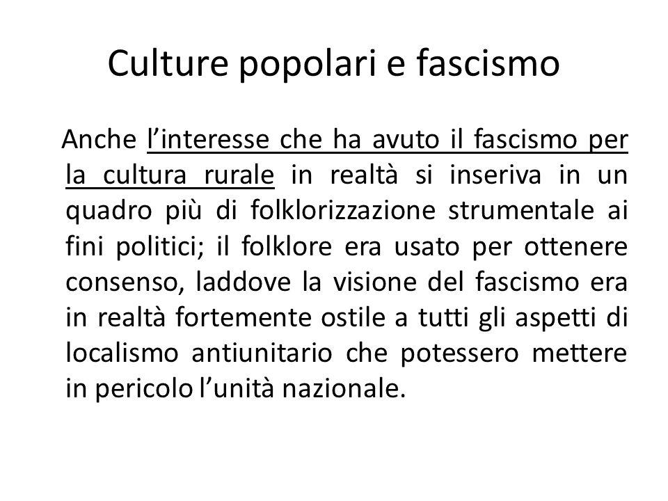 Culture popolari e fascismo