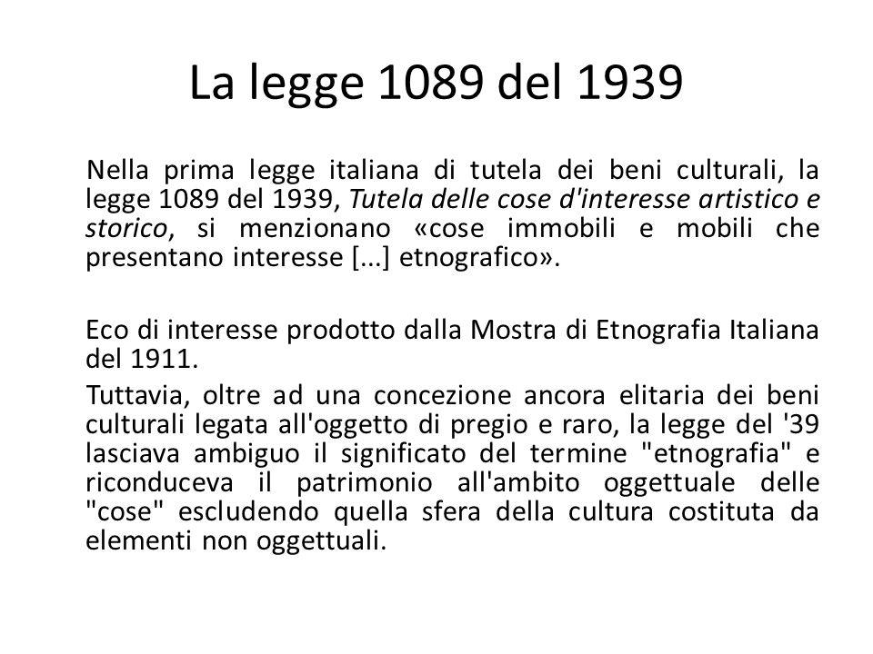 La legge 1089 del 1939