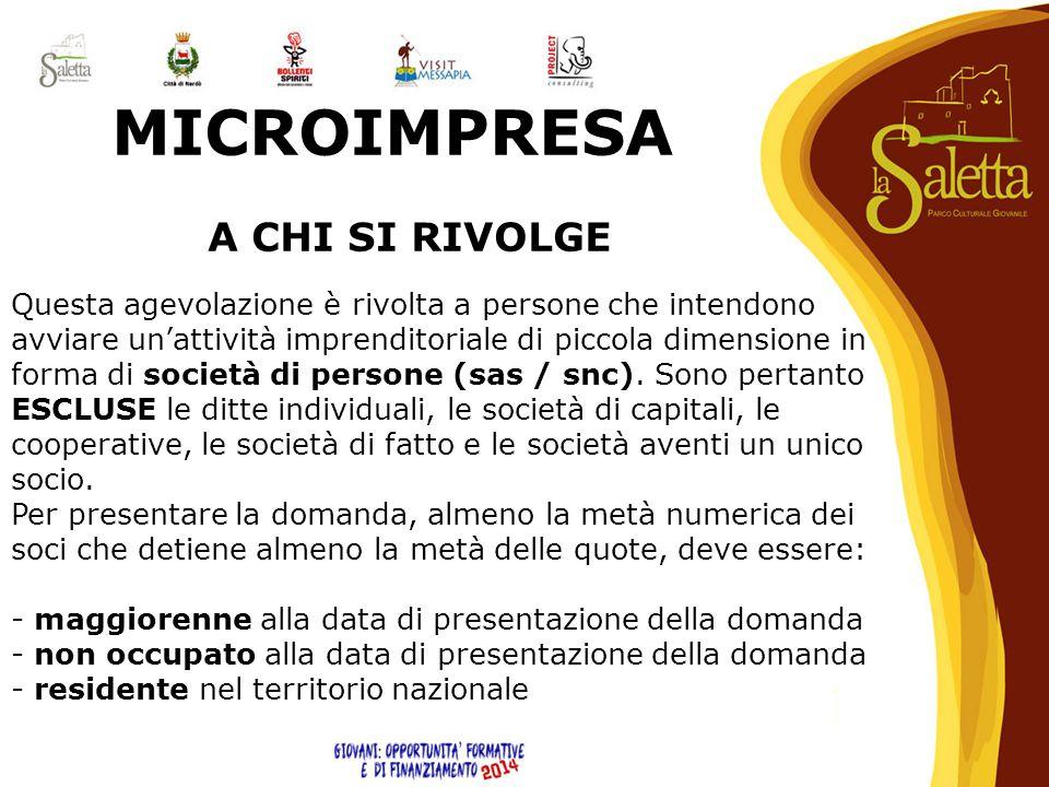 MICROIMPRESA A CHI SI RIVOLGE