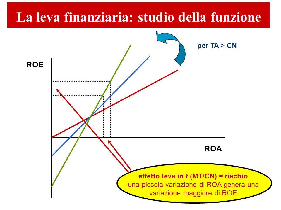 La leva finanziaria: studio della funzione