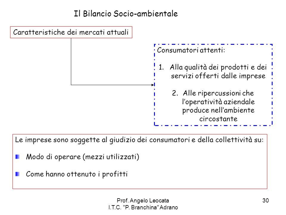 Il Bilancio Socio-ambientale