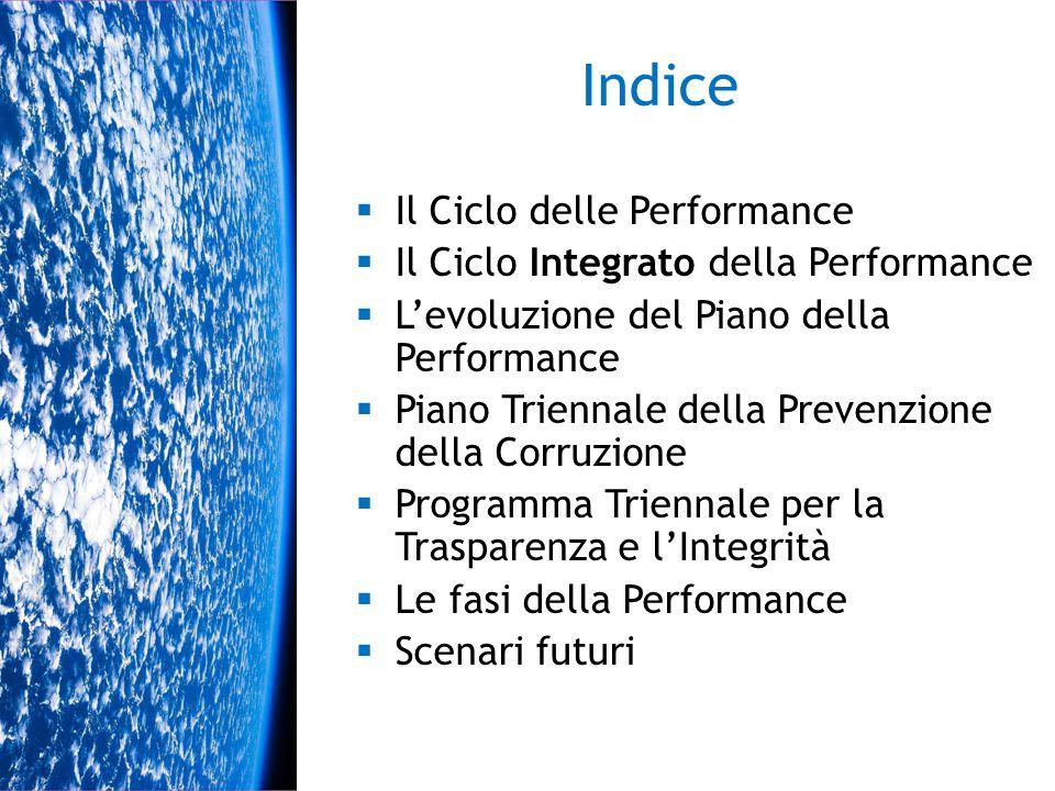 Indice Il Ciclo delle Performance Il Ciclo Integrato della Performance