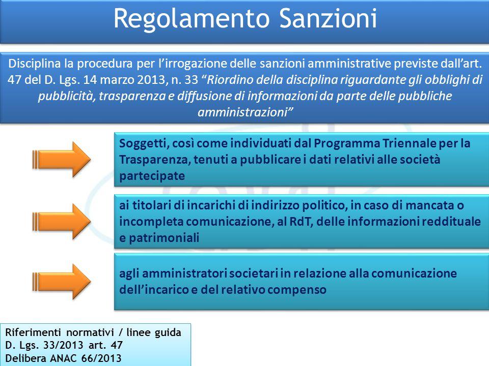 Regolamento Sanzioni