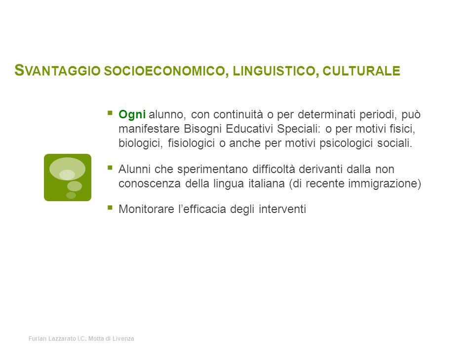Svantaggio socioeconomico, linguistico, culturale