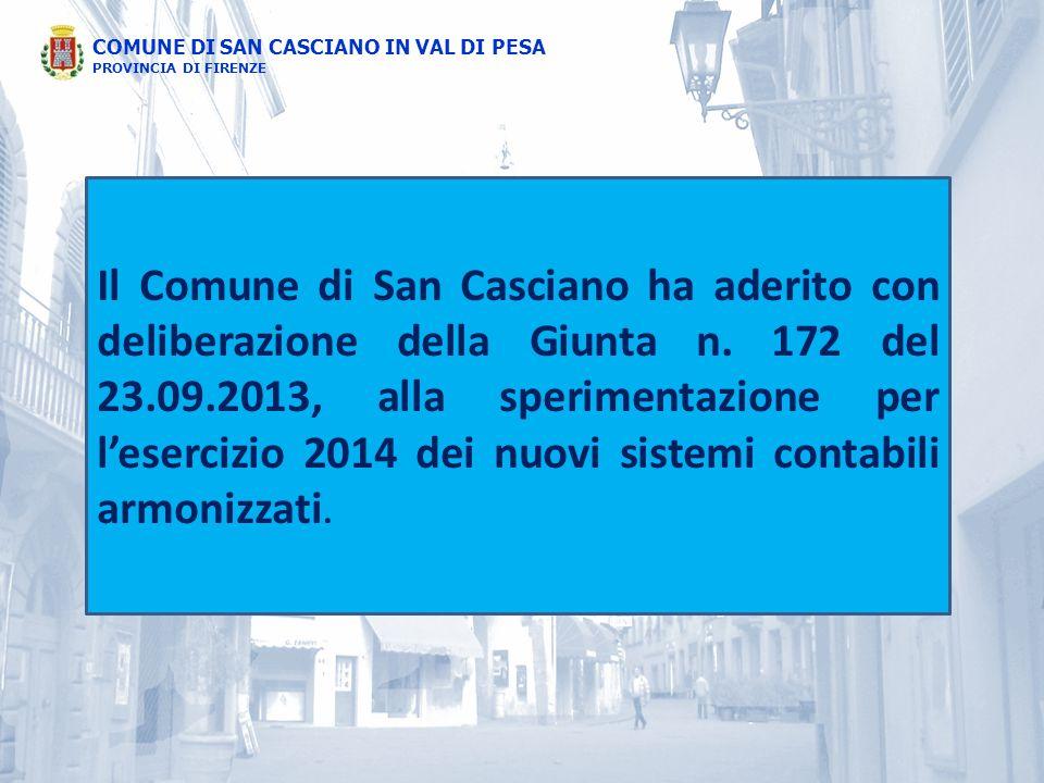 Il Comune di San Casciano ha aderito con deliberazione della Giunta n