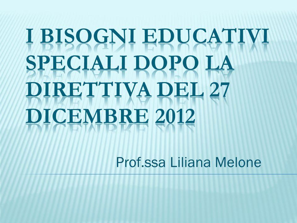 I bisogni educativi speciali dopo la direttiva del 27 dicembre 2012