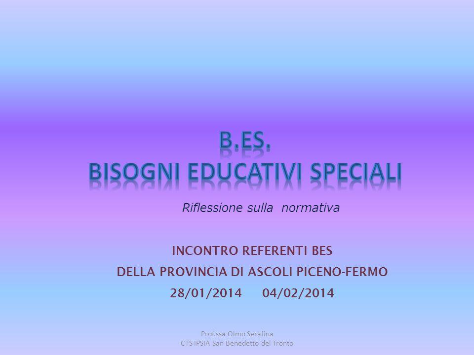 B.ES. BISOGNI EDUCATIVI SPECIALI