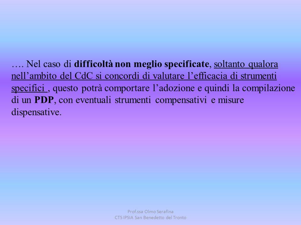 Prof.ssa Olmo Serafina CTS IPSIA San Benedetto del Tronto