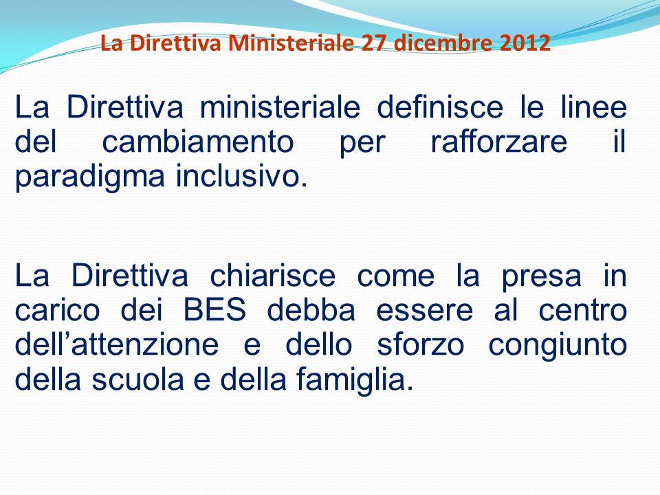 La Direttiva Ministeriale 27 dicembre 2012
