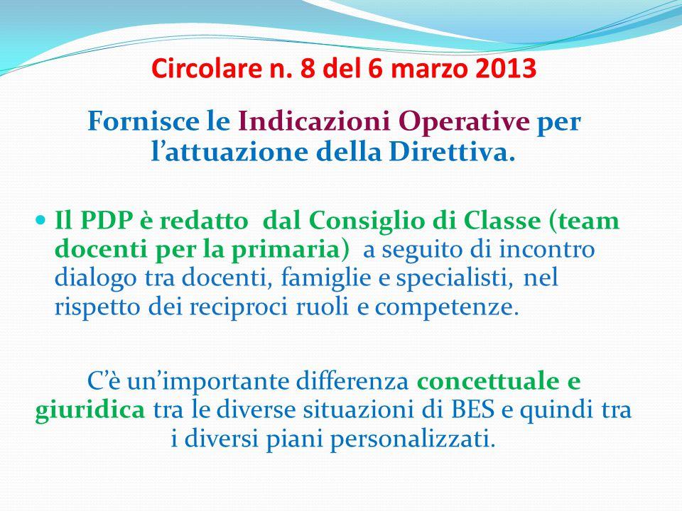 Fornisce le Indicazioni Operative per l'attuazione della Direttiva.