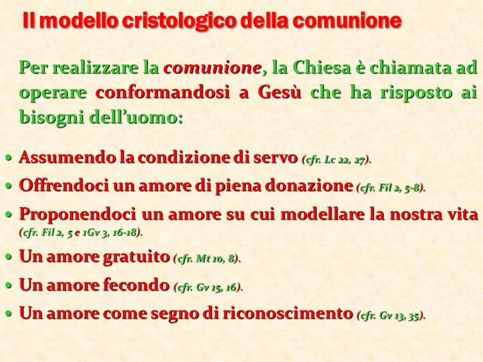 Il modello cristologico della comunione