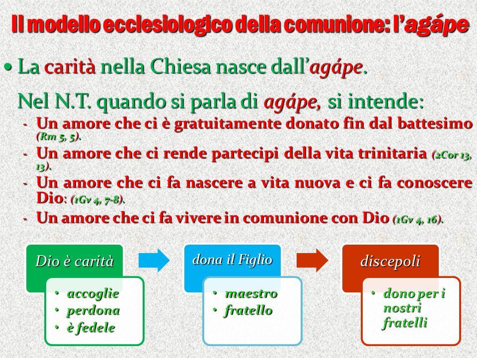 Il modello ecclesiologico della comunione: l'agápe