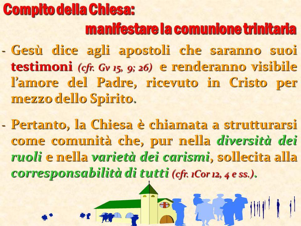 Compito della Chiesa: manifestare la comunione trinitaria