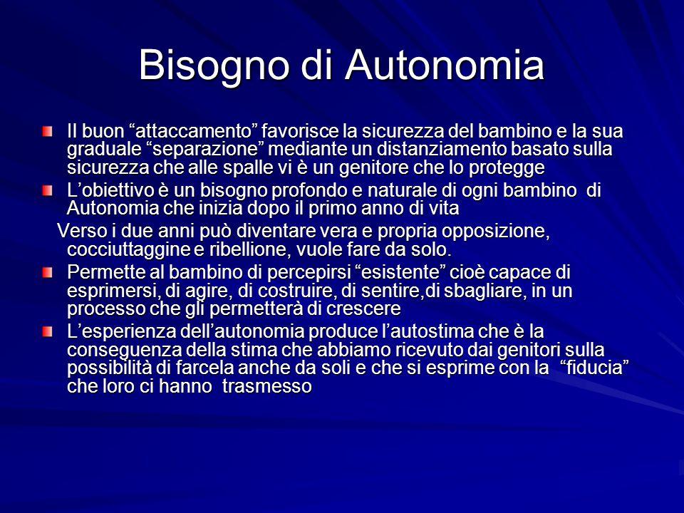 Bisogno di Autonomia