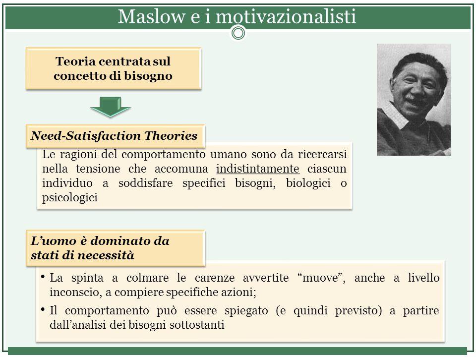 Maslow e i motivazionalisti