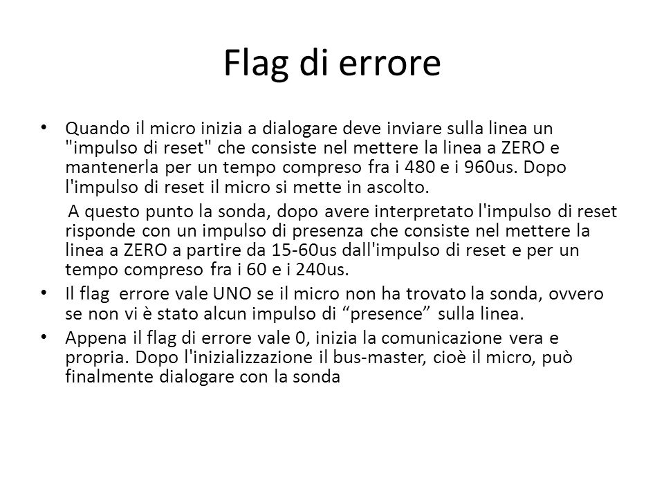 Flag di errore