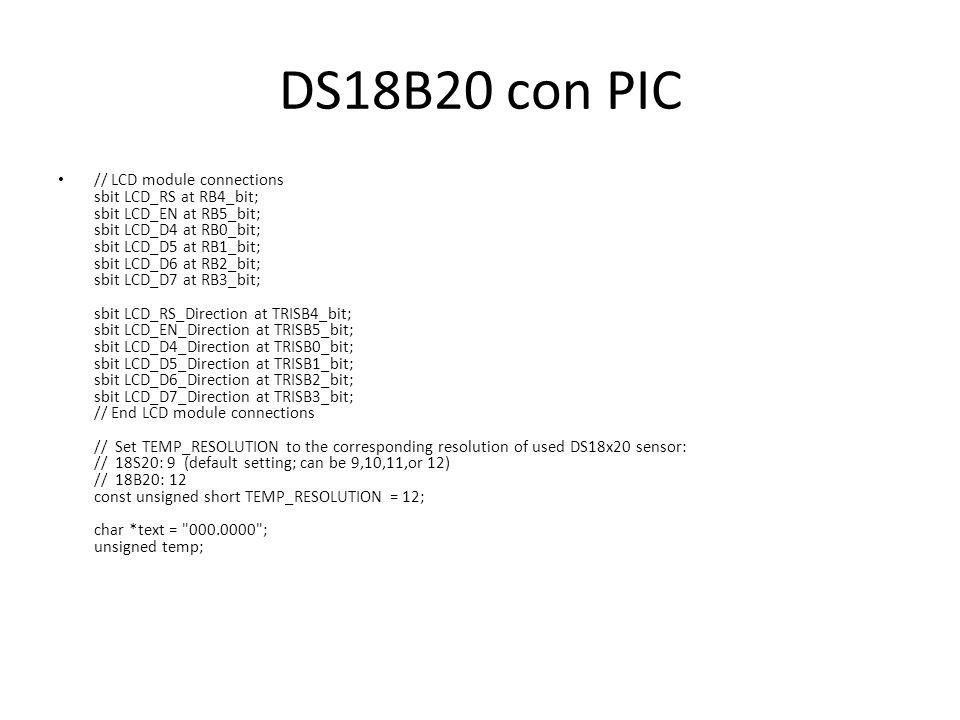 DS18B20 con PIC