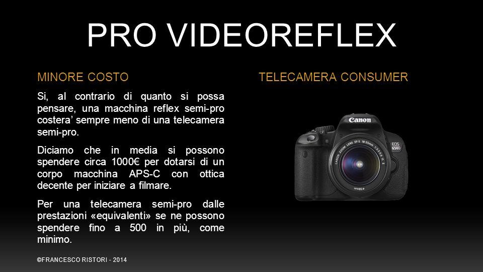 PRO VIDEOREFLEX MINORE COSTO TELECAMERA CONSUMER