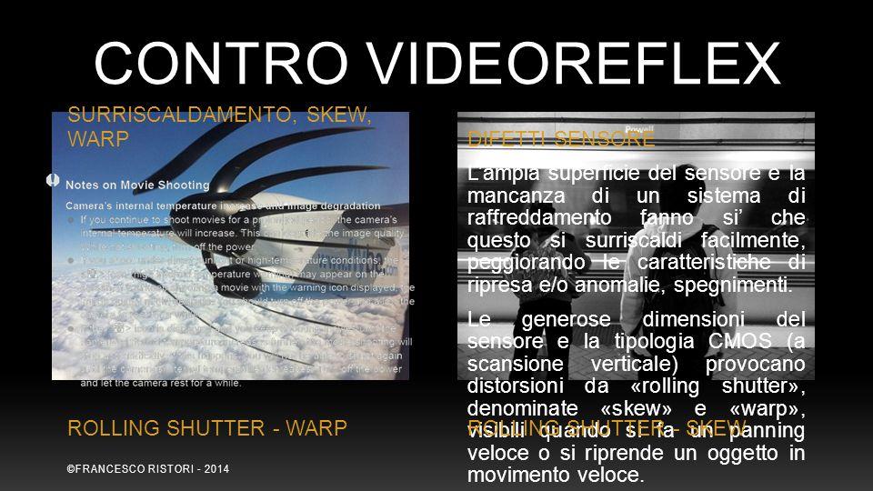 CONTRO Videoreflex SURRISCALDAMENTO, SKEW, WARP DIFETTI SENSORE