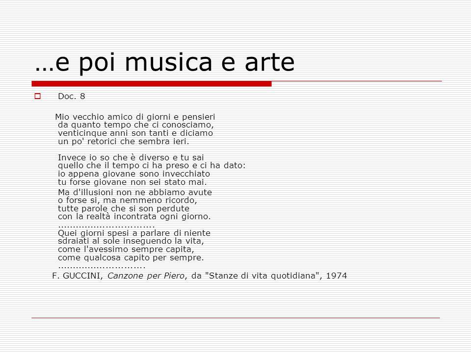 …e poi musica e arte Doc. 8.