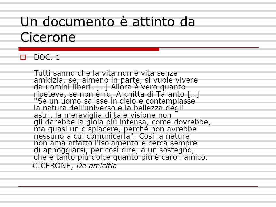 Un documento è attinto da Cicerone