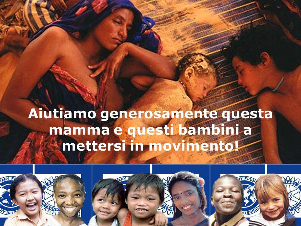 Aiutiamo generosamente questa mamma e questi bambini a mettersi in movimento!