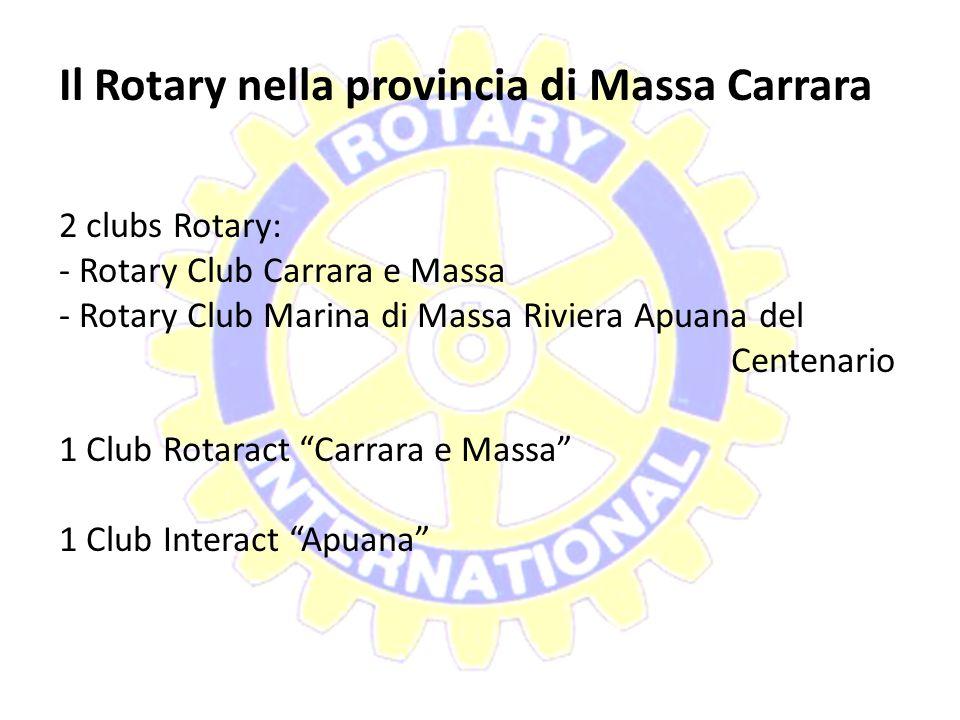 Il Rotary nella provincia di Massa Carrara
