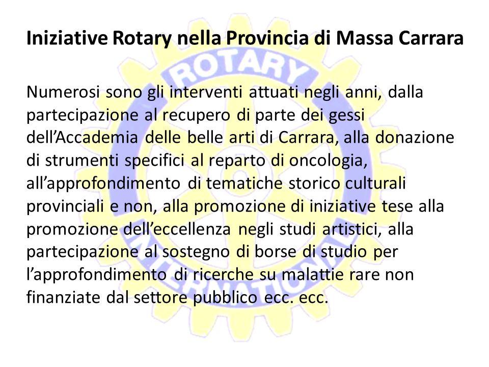 Iniziative Rotary nella Provincia di Massa Carrara
