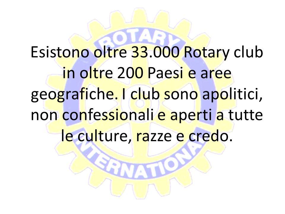 Esistono oltre 33.000 Rotary club in oltre 200 Paesi e aree geografiche.