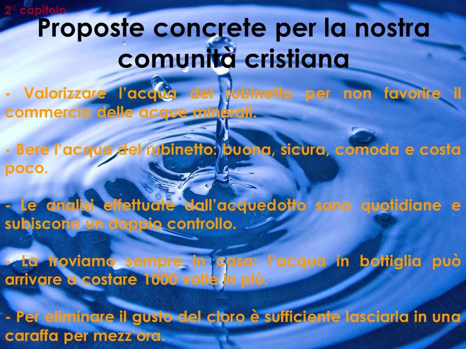 Proposte concrete per la nostra comunità cristiana