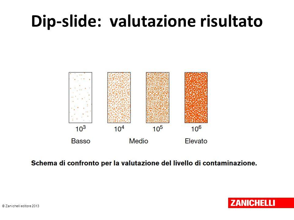 Dip-slide: valutazione risultato
