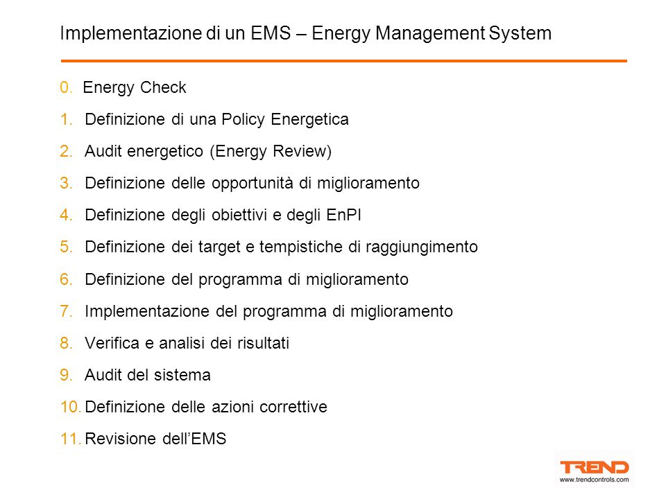Implementazione di un EMS – Energy Management System