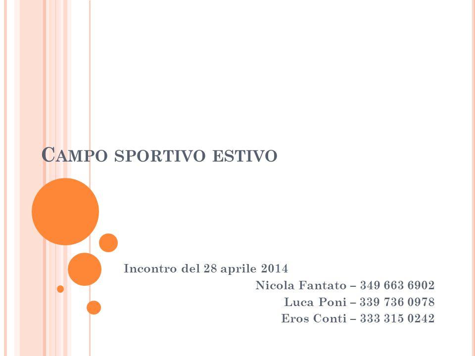 Campo sportivo estivo Incontro del 28 aprile 2014