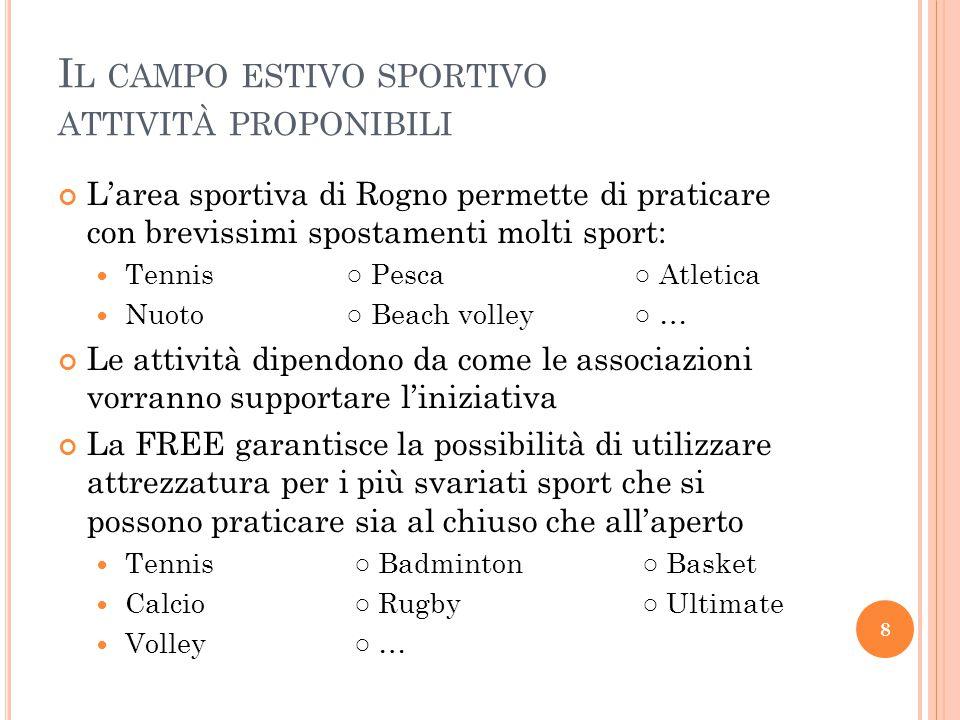 Il campo estivo sportivo attività proponibili