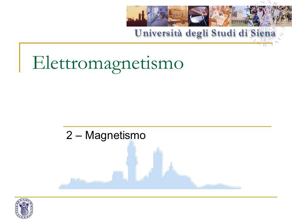 Elettromagnetismo 2 – Magnetismo