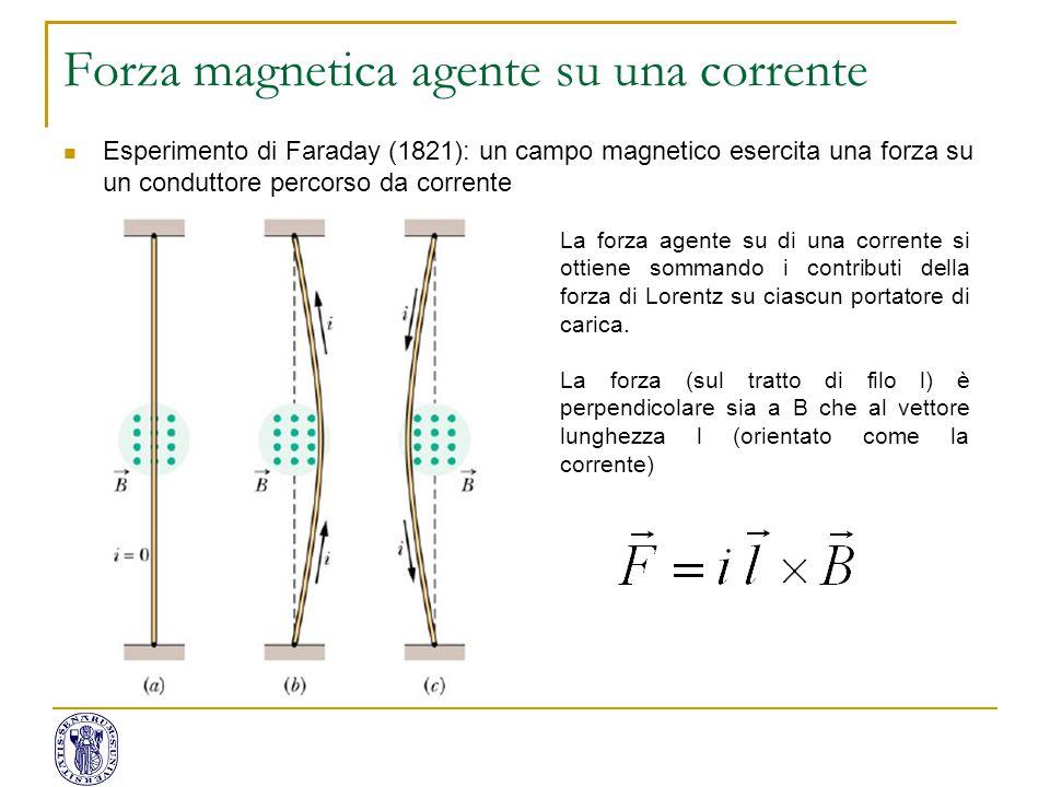 Forza magnetica agente su una corrente