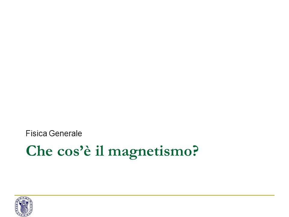 Che cos'è il magnetismo