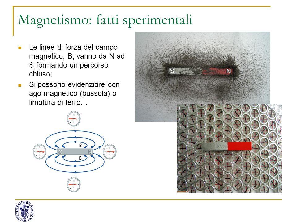 Magnetismo: fatti sperimentali