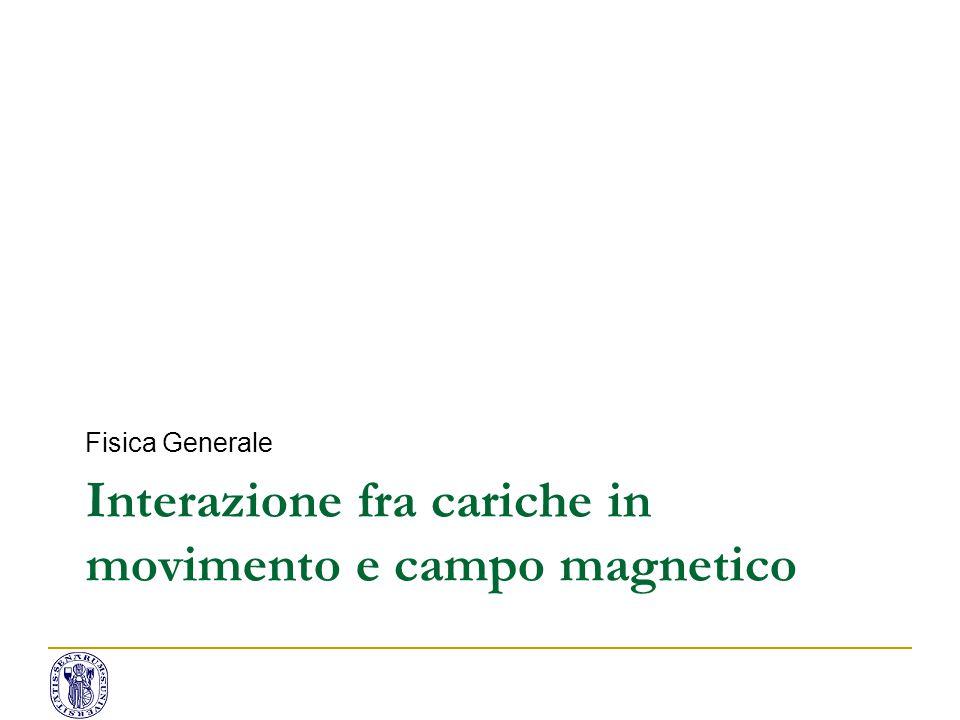 Interazione fra cariche in movimento e campo magnetico