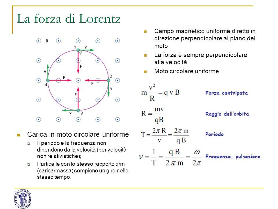 La forza di Lorentz Carica in moto circolare uniforme